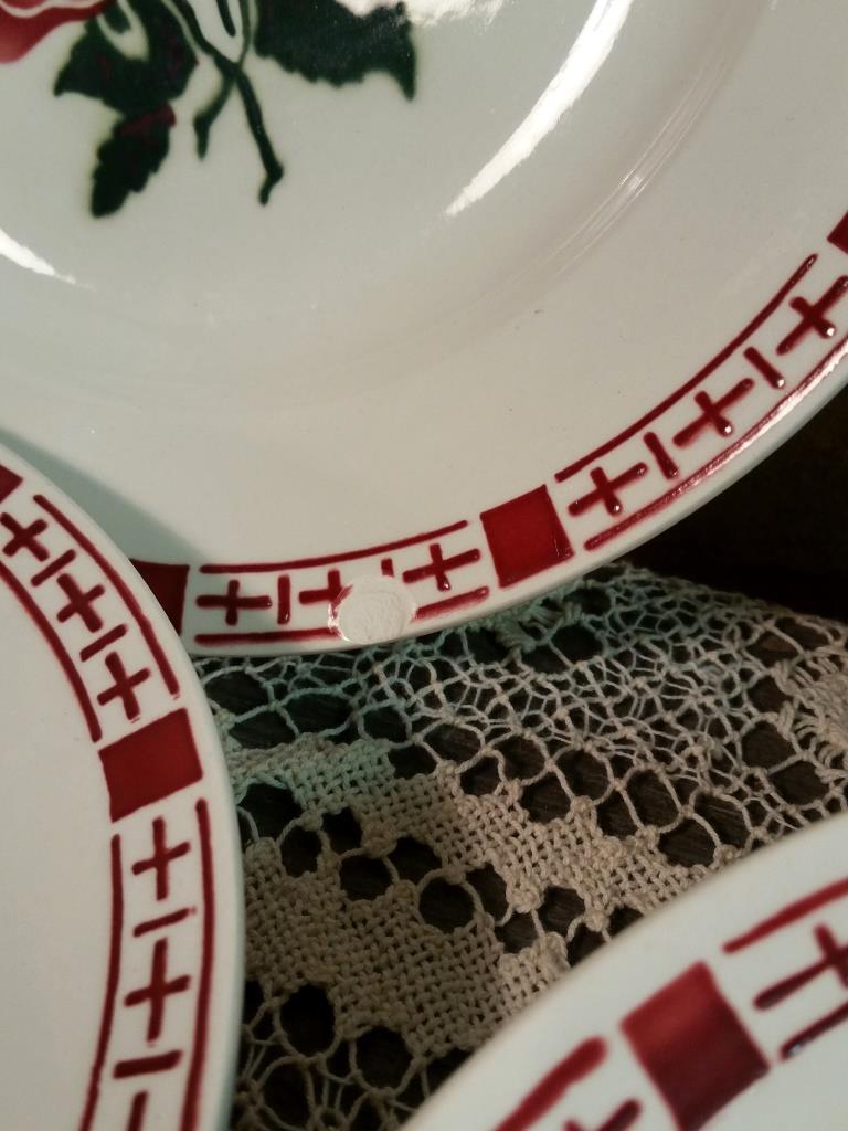 4 6 assiettes plates saverne chocs