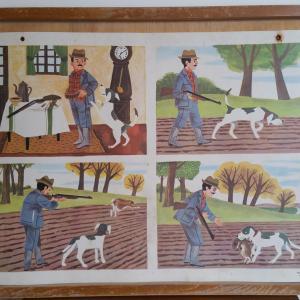 4 affiche cour d ecole chasse