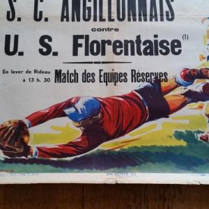 4 affiche de foot ricard angillonnais