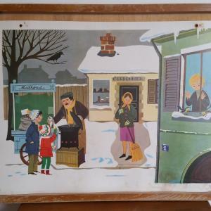 4 affiche hiver boule de neige hiver