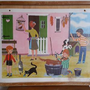 4 affiche un dimanche en famille animaux de la famille