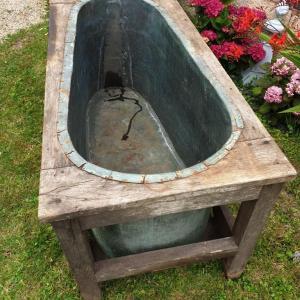 4 baignoire cuivre et bois