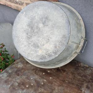 4 bassine en zinc 2 poignees