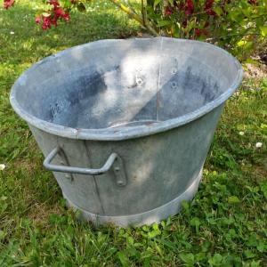 4 bassine en zinc