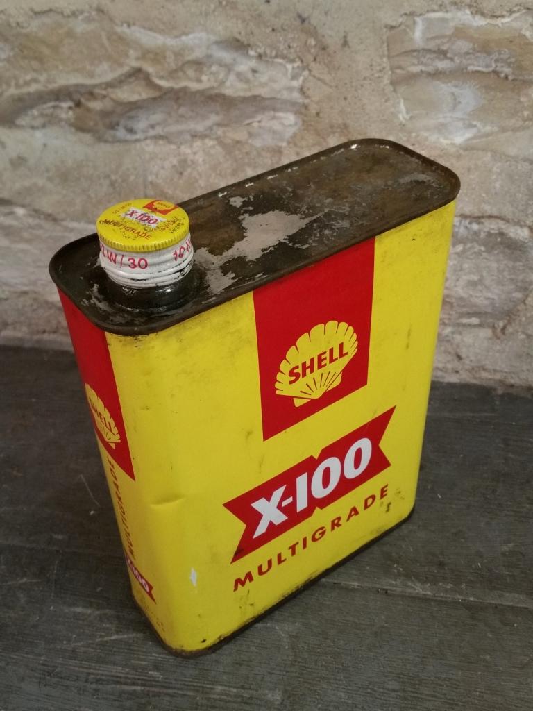 4 bidon huile shell x100