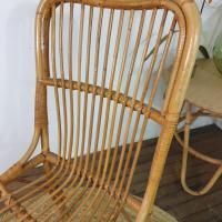 4 chaise en rotin