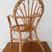 4 chaise osier enfant