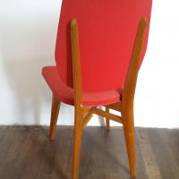 4 chaise rouge