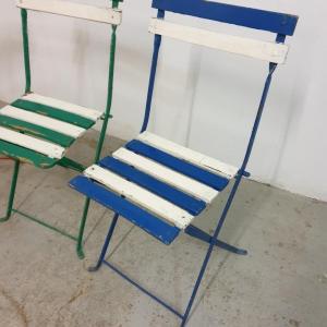 4 chaises de guinguettes