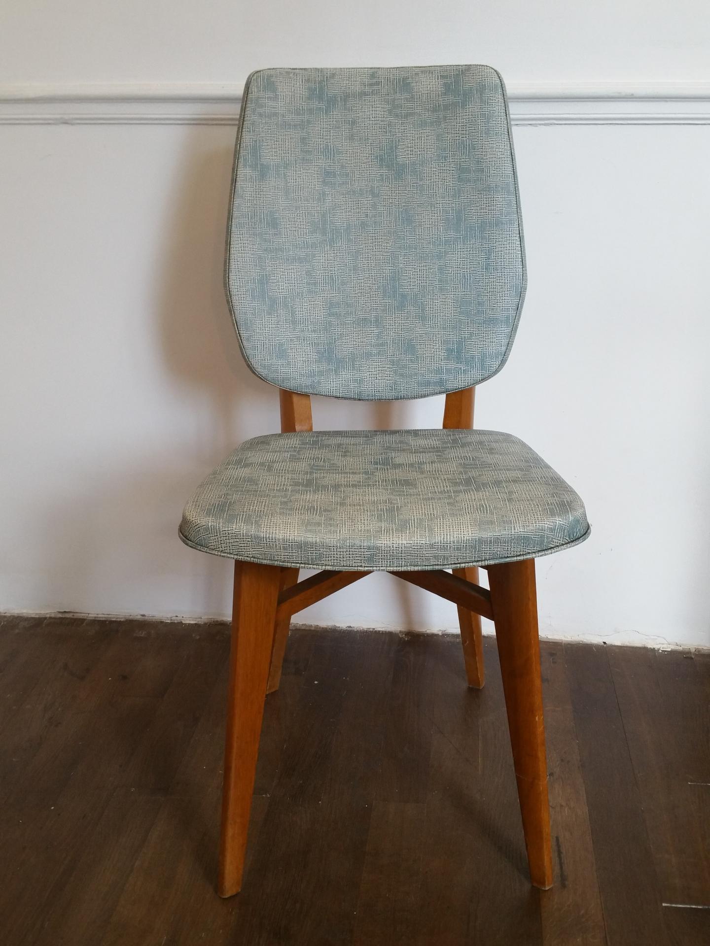 4 chaises vertes 60 s