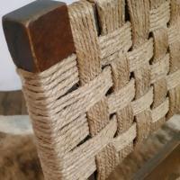 4 fauteuil bois corde