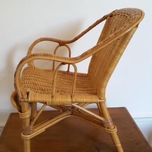 4 fauteuil rotin kid
