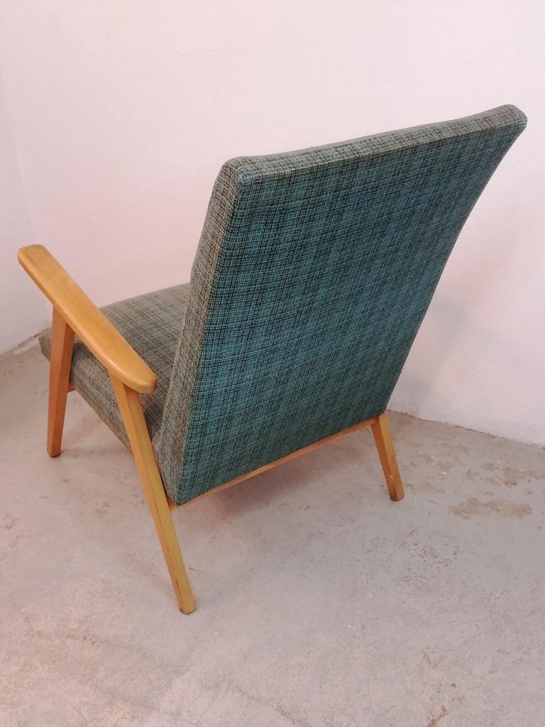 4 fauteuil scandinave vert