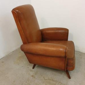 4 fauteuils cuir