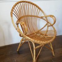 4 fauteuils en osier