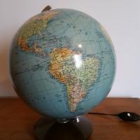4 globe terrestre lumineux magelan