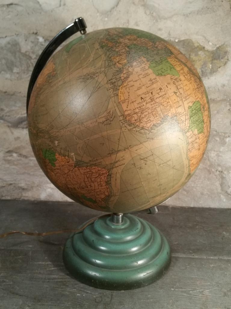 4 globe terrestre lumineux perrina