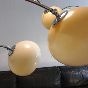 4 lampadaire arc muguet chrome 70 s