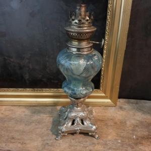 4 lampe a petrole reservoir bleu 1