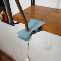 4 lampe cocotte pince bleue