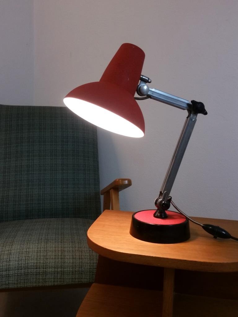 4 lampe de bureau chrome
