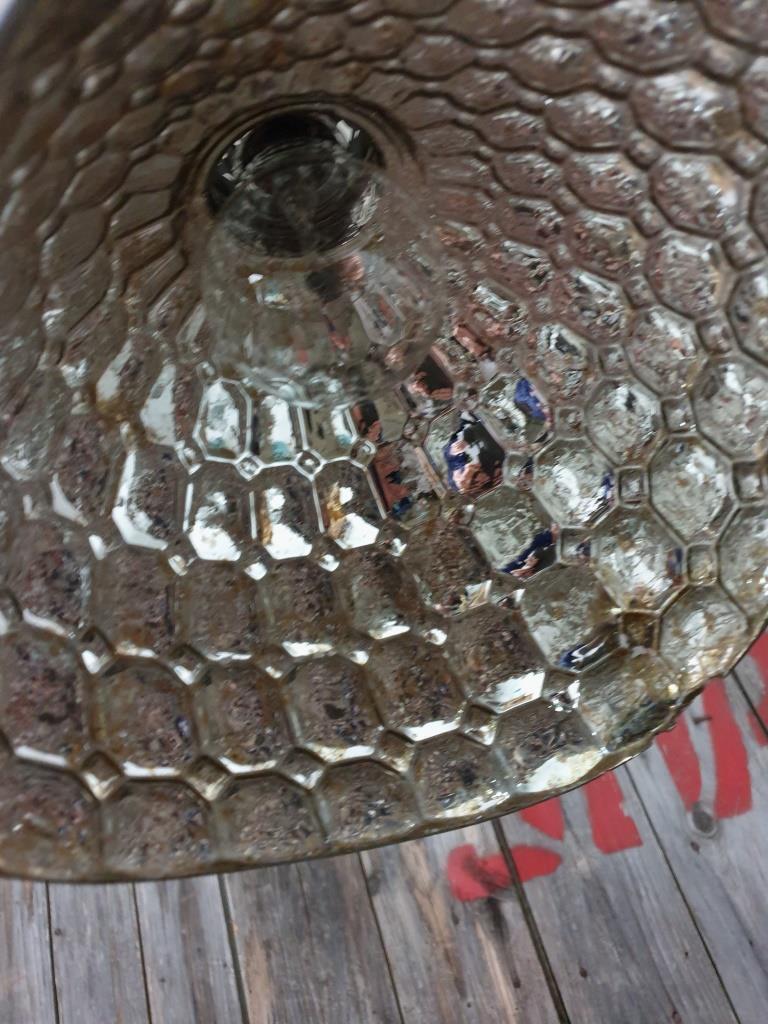 4 lampe holophane verre mercurise