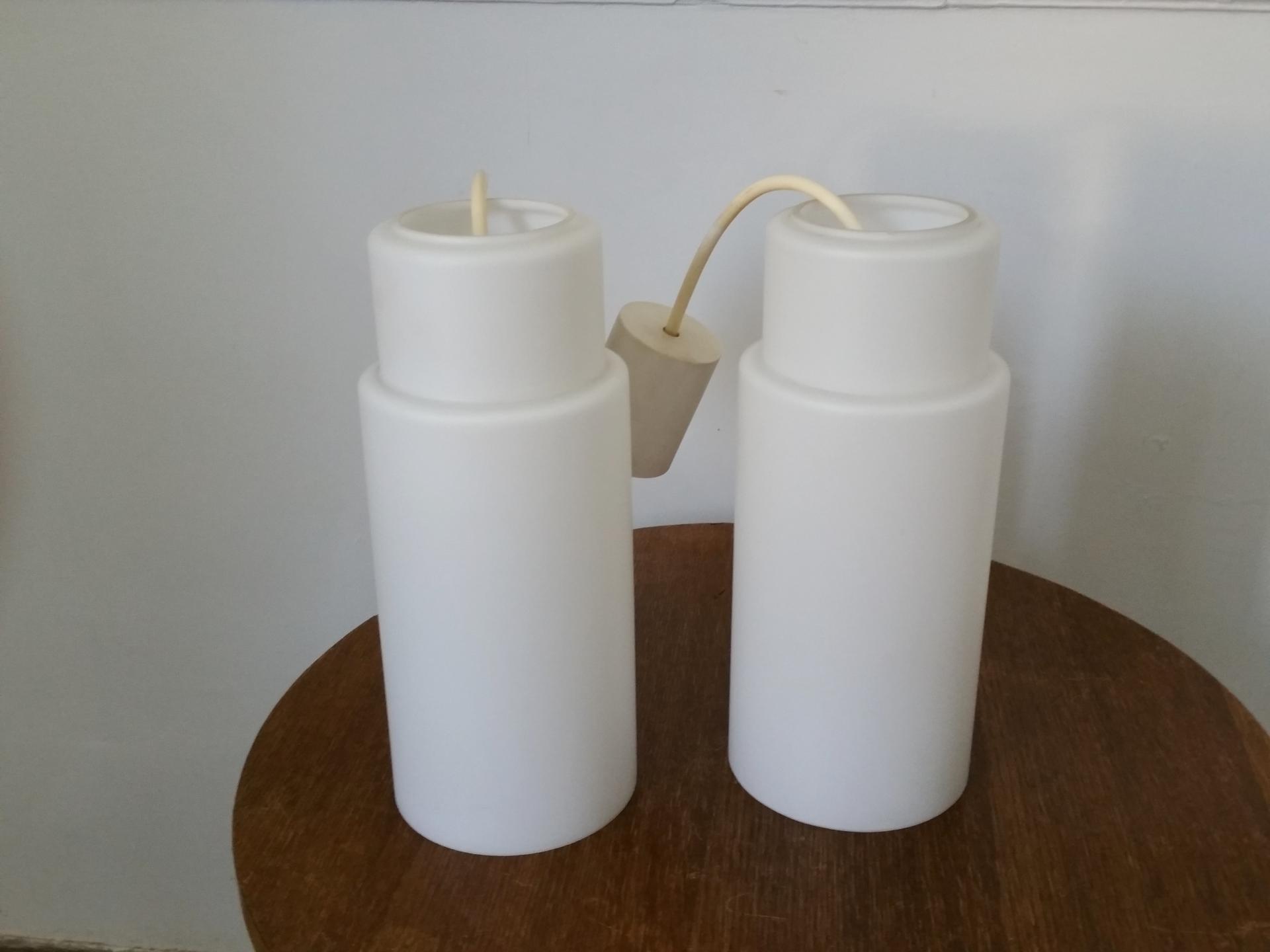 4 paire de suspension opaline blanche