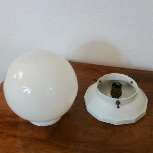 4 plafonnier boule blanche