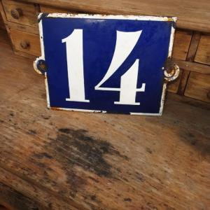 4 plaque de rue emaillee n 14