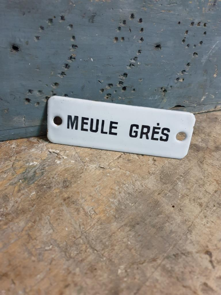 4 plaque emaillee meule gres