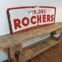 4 plaque emaillee vin des rochers