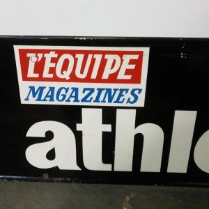 4 plaque publicitaire l equipe