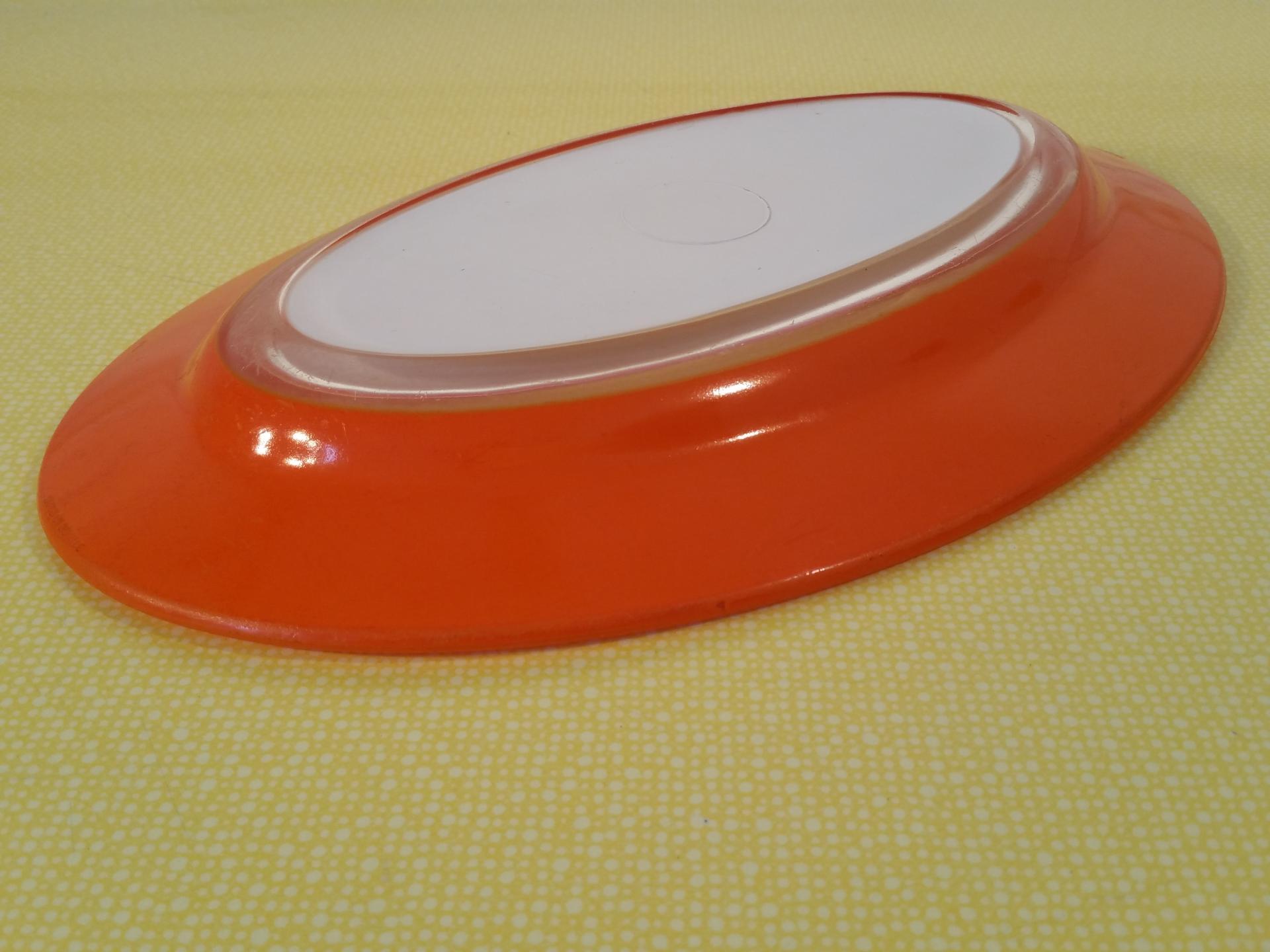 4 plat oval orange