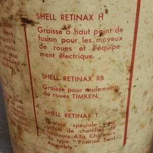 4 pot de graisse shell