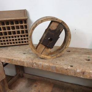 4 poulie bois largeur 10