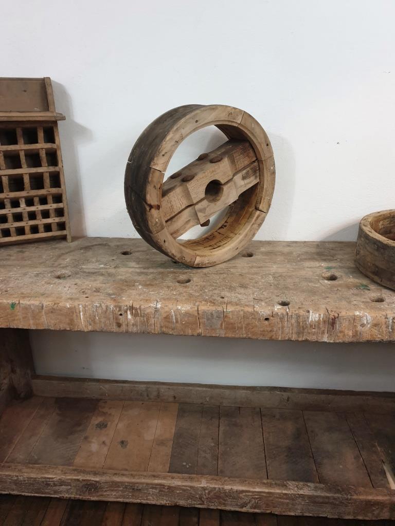 4 poulie en bois largeur 12