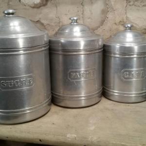 4 serie de pots alu