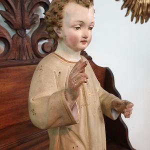4 statue religieuse enfant