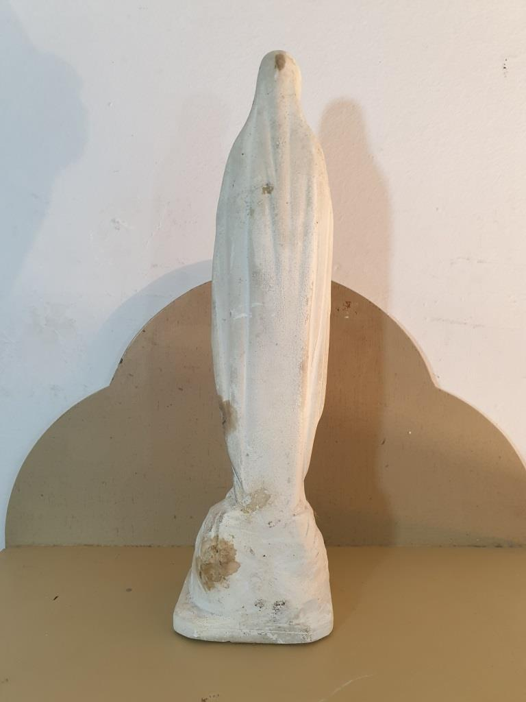 4 statue vierge marie blanche