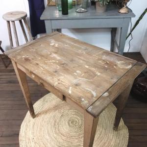 4 table d appoint bois naturel brut