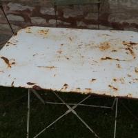4 table de jardin