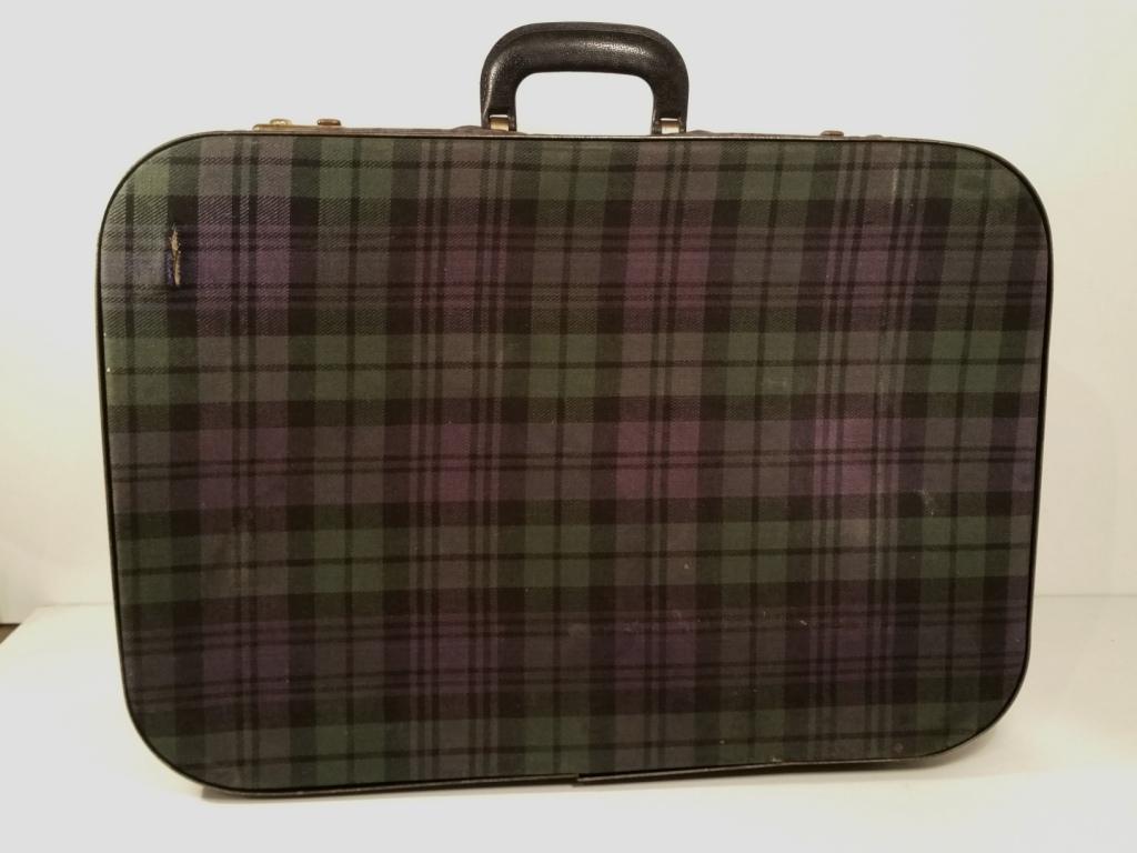 4 valise ecossaise violet