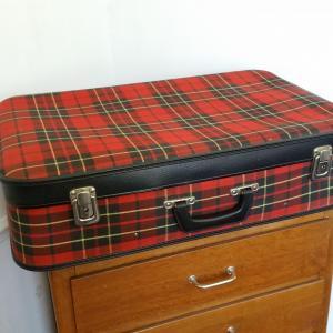 4 valise tissu ecossais
