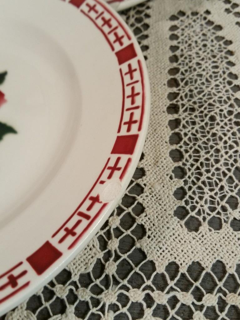 5 6 assiettes plates saverne chocs