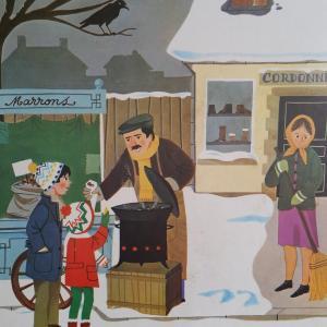 5 affiche hiver boule de neige hiver