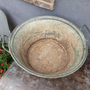 5 bassine en zinc 2 poignees