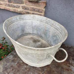 5 bassine oval en zinc