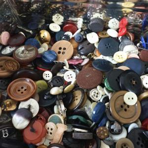 5 boite de boutons anciens