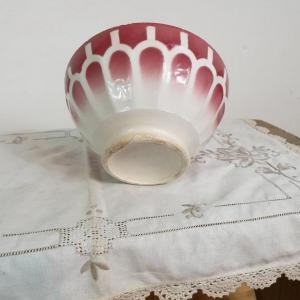 5 bol blanc et bordeaux