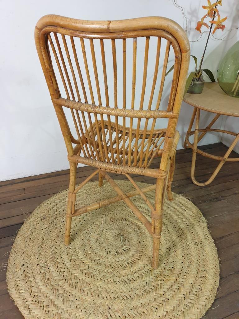 5 chaise en rotin